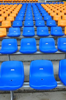 Free Blue And Orange Color Seat Royalty Free Stock Photos - 15159648