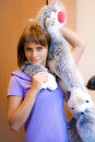 Free Girl With Toy-cat Royalty Free Stock Photo - 15162305