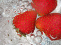 Free Fresh Strawberry In Water Royalty Free Stock Photography - 15164287