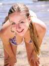 Free Woman Taking In The Sun At The Beach Royalty Free Stock Photography - 15164627