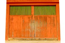 Free Orange Gate Royalty Free Stock Photography - 15160057