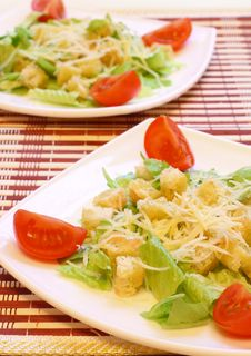Free Caesar Salad Royalty Free Stock Images - 15160699