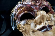 Free Dramatic Venetian Mask Royalty Free Stock Photo - 15160845