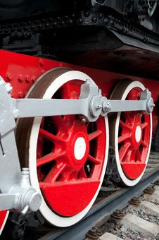 Free Old Steam Engine Wheels Close-up Royalty Free Stock Image - 15160976