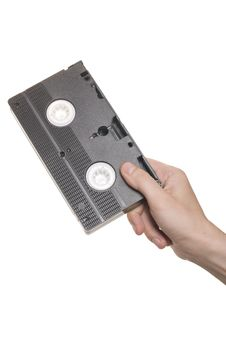 Free Hand With Video Cassette Royalty Free Stock Image - 15161046