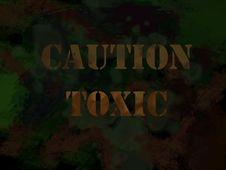 Free Toxic Warning Sign Stock Photography - 15162282