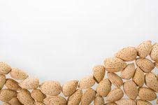 Free Almonds On White Background. Royalty Free Stock Photo - 15162665