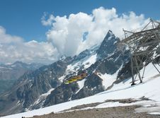 Cable Cars In The French Alps Royalty Free Stock Image