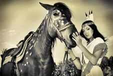 Free Woman With Horse Royalty Free Stock Photo - 15163255