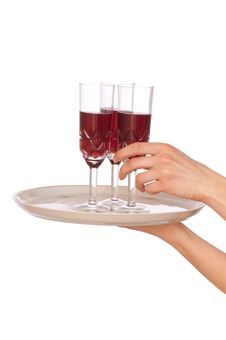 Free Three Glasses Champagne Royalty Free Stock Photos - 15163328