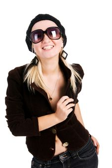 Free Beautiful Young Alluring Girl In Jacket Stock Photography - 15163482