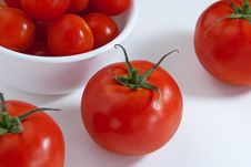 Close Up Of Tomatoes Royalty Free Stock Photography