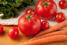 Close Up Shot Of Mixed Vegetables Royalty Free Stock Image
