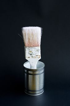 Free Old White Brush Royalty Free Stock Photo - 15163955