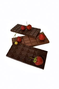 Free Chocolate And Strawberries Stock Photography - 15164412