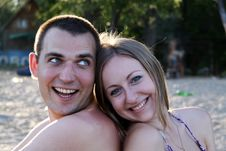 Free Portrait Of A Happy Young Couple Stock Image - 15164601