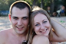 Free Portrait Of A Happy Young Couple Royalty Free Stock Photography - 15164607