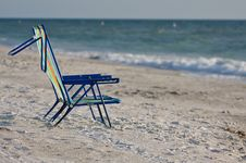 Free Two Empty Beach Chairs. Stock Image - 15164791