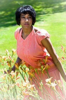 Free Beautiful Black Woman In Nature Setting Stock Photography - 15165592