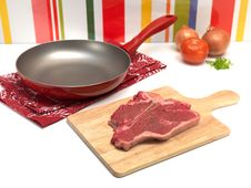 Free Raw T Bone Steak Stock Photography - 15166022