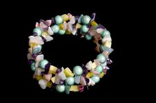 Free Multi Colored Bead Bracelet Royalty Free Stock Images - 15166219