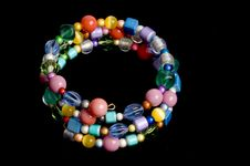 Free Multi Colored Bead Bracelet Stock Image - 15166221