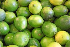 Limes In A Farmers  Market Royalty Free Stock Photography