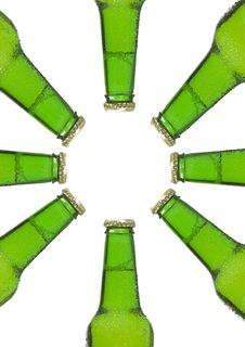 Free Beer Bottles Isolated Stock Photography - 15167252