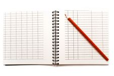 Free Notebook With A Red Pencil Royalty Free Stock Images - 15167629