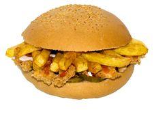 Free Chicken Potato Sandwich Stock Photo - 15167700