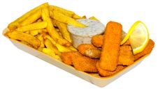 Free Fish Fingers Menu Stock Photos - 15167723