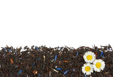 Free Flowers On The Dry Tea Leaves Background Royalty Free Stock Photo - 15167845