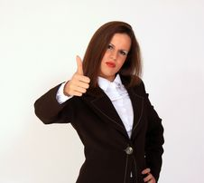 Free Young Woman With Thumb Up Royalty Free Stock Photography - 15167877