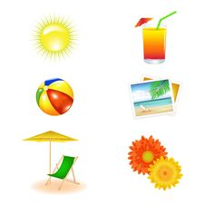 Beach Set. Vector Stock Photography