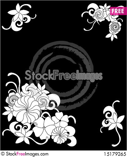 Free Frame Of Flowers And Leaves Royalty Free Stock Photo - 15179265