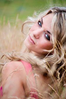 Blue-eyed Blonde Royalty Free Stock Photography