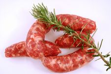 Free Sausage And Rosemary Royalty Free Stock Photos - 15171308