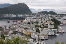 Free Panorama Of Alesund, Norway Stock Image - 15171511