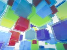 Free 3d Flying Light-box Background Royalty Free Stock Photography - 15172427