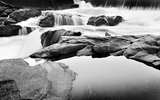 Free Waterfalls In B & W Stock Images - 15173304
