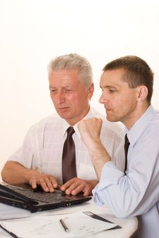 Free Two Businessmen Working Stock Photos - 15173543