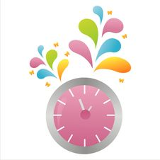 Free Colorful Clock Background Stock Images - 15173584
