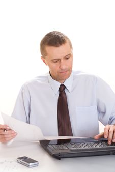 Free Businessman With Laptop Royalty Free Stock Photo - 15173815