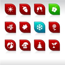 Free Seasons Icons. Stock Photo - 15174410