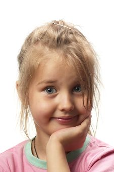 Little Smiling Girl Stock Photo