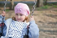 Free Little Girl In The Swing Royalty Free Stock Image - 15175706