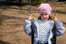 Free Little Girl In The Swing Royalty Free Stock Image - 15175736