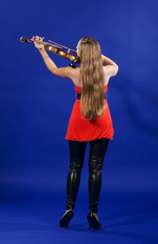 Free Young Woman Playing Violin Royalty Free Stock Photography - 15175887