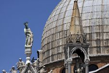 Basilica San Marco, Front Detail, Venice Stock Photos