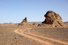 Free Trail In Libyan Desert Stock Images - 15176454
